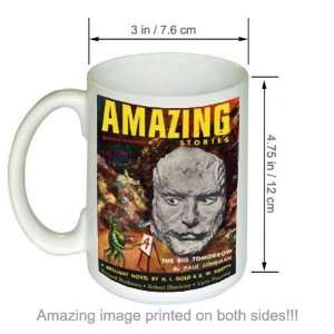 Amazing Stories Vintage Science Fiction Art COFFEE MUG