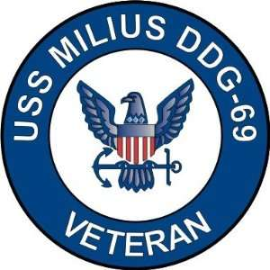 US Navy USS Milius DDG 69 Ship Veteran Decal Sticker 3.8