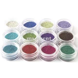 Mini BEADS 3D/UV Gel for Nail Art acrylic system Decoration B12