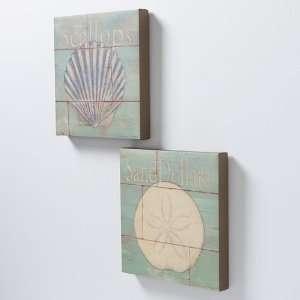 2 pc. Sand Dollars And Scallops Wall Art Set