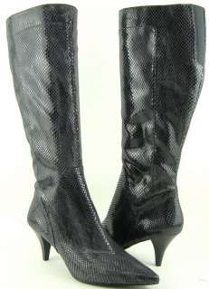 PICKWICK Grey Snake Print Womens Shoes High Heel Boots 7.5 M