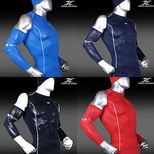 Mens Compression Sleeveless Shirts Sports under Base Layer Tights Gym