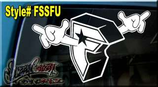 FAMOUS STAR and STRAPS DECAL VINYL STICKER FAMILY SAS