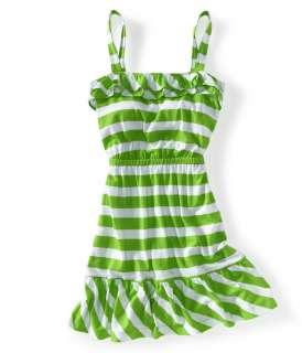 Aeropostale womens ruffled striped dress   Style 8754
