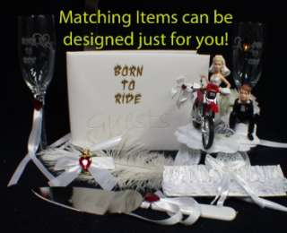 Sexy red Off Road Dirt Bike Motorcycle wedding Cake topper Honda track