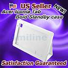 Acer Iconia Tab A500 Folio Leather Case Cover w/Stand W