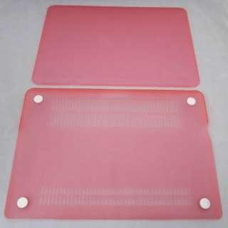 Frosted matt PINK rubberized hard case cover Keyboard skin 3in1