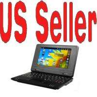 BLACK 7 Mini Netbook Laptop Notebook WIFI Android 2.2 VIA wm8650