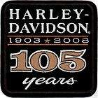 HARLEY DAVIDSON 105TH ANNIVERSARY LEGEN D PATCH *USA*