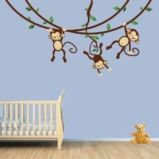 Monkeys Wall Decals Sticker Nursery Decor Art Mural