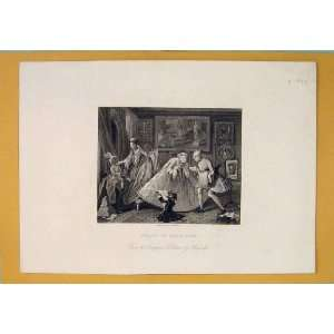 High Life King Royalty Rich Hogarth Antique Print C1850