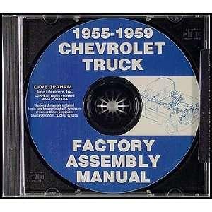 CD ROM 1955 1959 Chevrolet Pickup Truck Factory Assembly