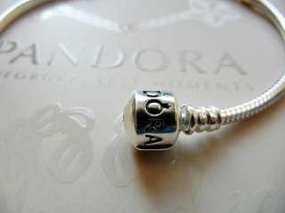 AUTHENTIC PANDORA .925 STERLING SILVER BRACELET LOVE PINK 21 CHARM