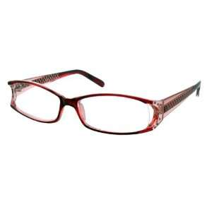 Calabria Roxy Rasberry Etched Reading Glasses Women