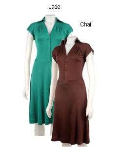 BCBG Max Azria Short Sleeve Jersey Knit Dress