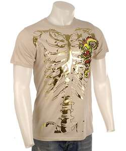 Ed Hardy Mens Skeleton Dragon Skull T shirt  Overstock