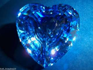 SWAROVSKI CRYSTAL BLUE HEART SCS 1997 RENEWAL MIB