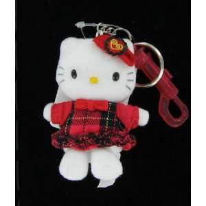 Hello Kitty in Red Dress Keychain Toys & Games