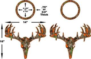 Camo Orange Deer S4 Cornhole Pack Vinyl Decal Sticker trophy whitetail