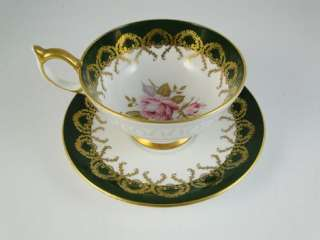 & Saucer Set Pink Rose Aynsley England Fine Bone China Cup
