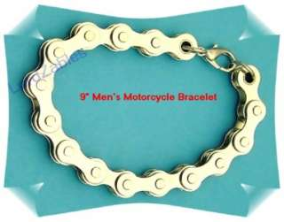 Heavy Weight Mens Chromed Motorcycle Bikers Chain Bracelet