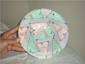 Vtg 80s Studio Pottery Bowl Teepee Joanne Delomba sgd