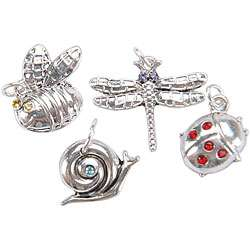 Jolees Jewels Assorted Bug Crystal Charm Mix (Pack of 4