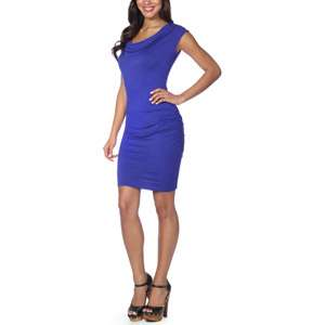 In The Mix   Womens Cowl Neck Jersey Dress Women