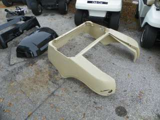 CLUB CAR PRECEDENT GOLF CART FACTORY REAR BEIGE BODY