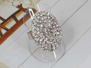 clear crystal rings quantity 12pcs ring type open type free size