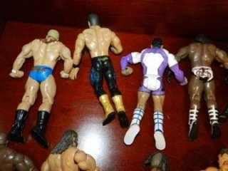 WWE WRESTLING Figure LOT Vintage UNDERTAKER TRIPLE H BOOKER T MVP