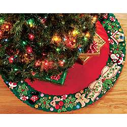 Mary Engelbreit Wreath Tree Skirt Felt Applique Needle Point Kit