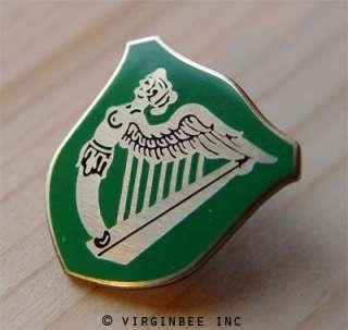 IRISH GREEN FLAG IRELAND HARP WINGED MAIDEN ERIN PIN