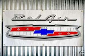 55 56 57 Chevrolet Bel Air Emblem custom banner sign
