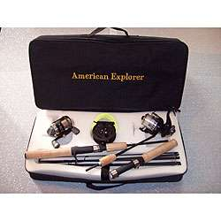 Travel Kit Rods and Reels Deluxe 8 piece Set