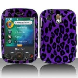 Purple Leopard Hard Case Cover for Pantech Jest TXT8040