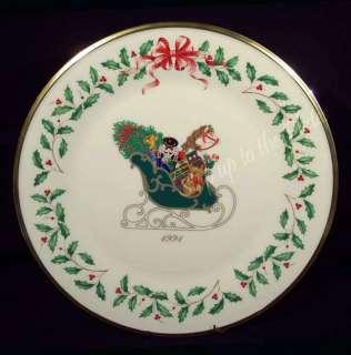Lenox 1st Annual Holiday Christmas Plate 1991 Sleigh Bx |
