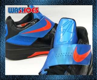 2011 Nike Zoom KD IV 4 X Black Blue Team Orange Noir US 7.5~12 pe kobe