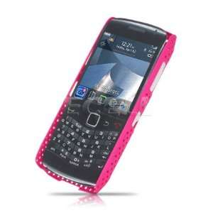Ecell   HOT PINK MESH HARD CASE FOR BLACKBERRY PEARL 3G