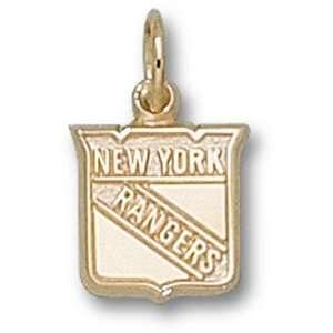 New York Rangers Pendant   10K Gold Shield Logo GEMaffair