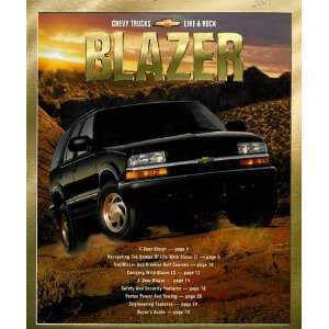 2001 Chevrolet Blazer Chevy Truck Sales Brochure