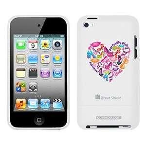 Barbie Shoe Heart on iPod Touch 4g Greatshield Case