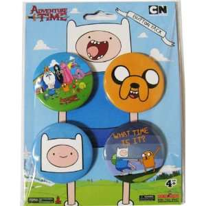 Adventure Time Jake & Finn Collectors Button Pack: Toys & Games