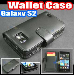 Leather Case Cover+Card Holder for Samsung Galaxy S2 S 2 ii i9100