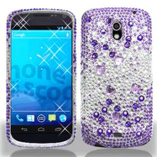 For Samsung Galaxy Nexus Crystal Diamond BLING Case Phone Cover Purple