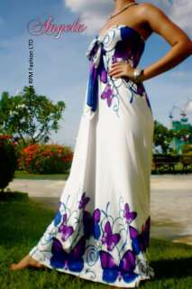 Butterfly Halter Women Evening Party Long Maxi Dress Size M   XXL CA