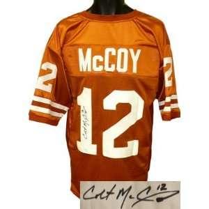Colt McCoy signed Texas Longhorns Orange Custom Jersey
