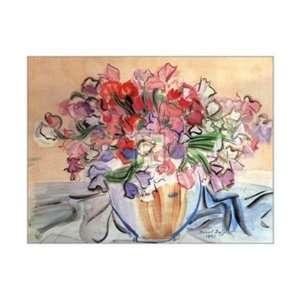Vase de Pois de Senteur by Raoul Dufy 28x22