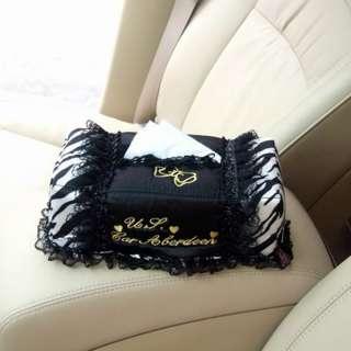 Auto Car Dashboard Tissue Napkin Box Case Holder Zebra