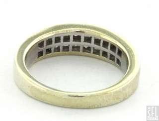 ELEGANT 1.0CT PRINCESS CUT DIAMOND CLUSTER WEDDING BAND RING SIZE 7
